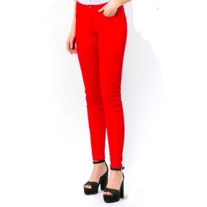 le chateau Denim Red Skinny Jeans